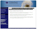 Aldenhart Financial Services - Web Design by EA Design